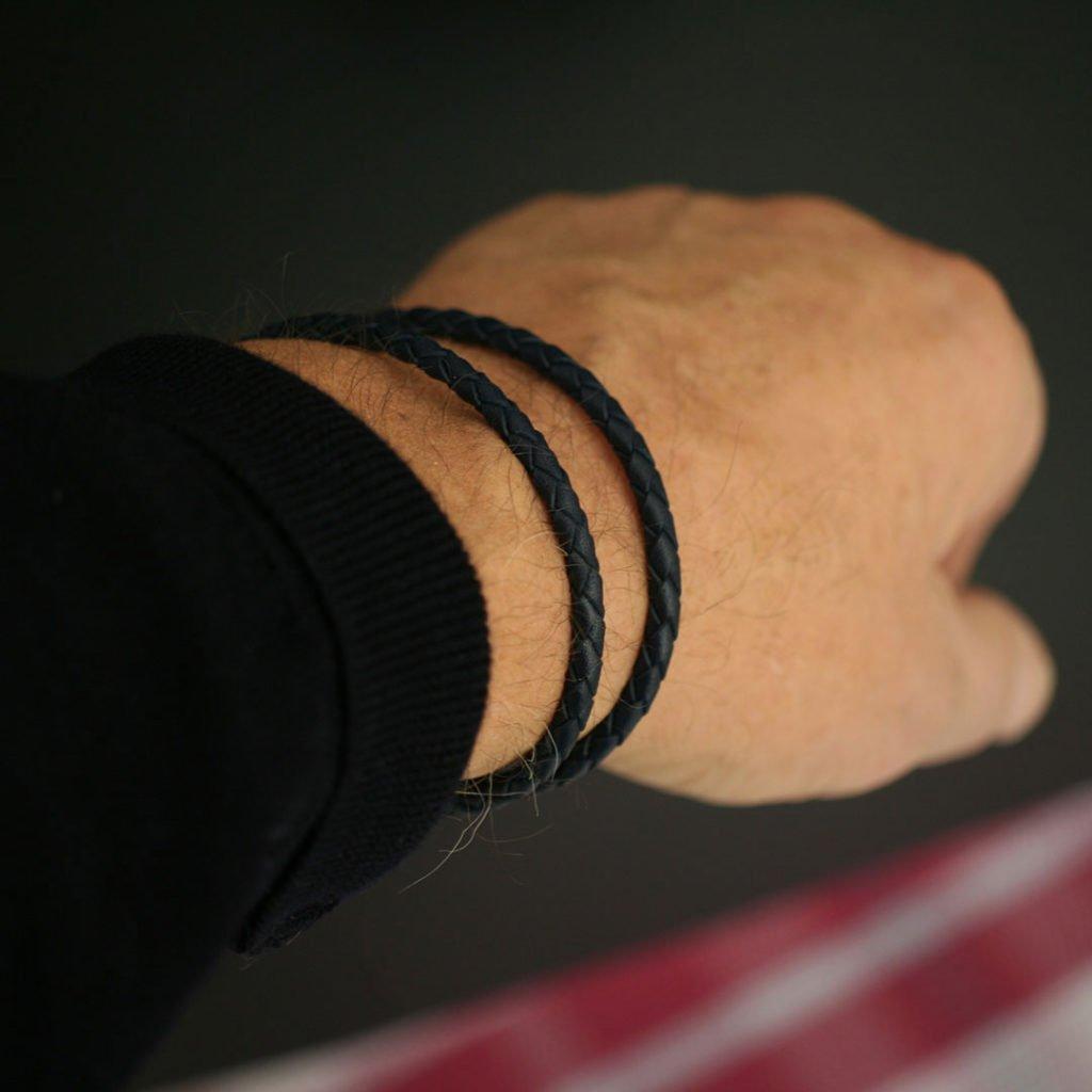 Läderarmband Svart