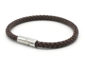 Smalt Mörkbrunt Läderarmband